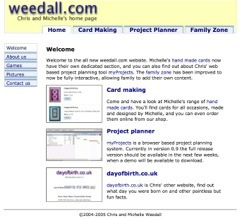 Image of my old Weedall.com website